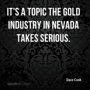 It's a topic the gold industry in Nevada takes serious.
