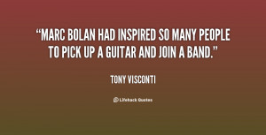 Marc Bolan had inspired so many people to pick up a guitar and join a ...