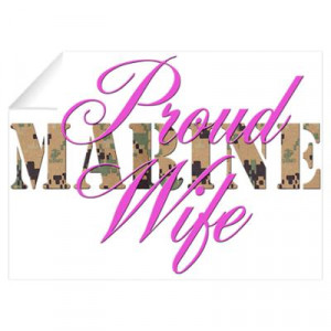 ... > Wall Art > Wall Decals > Proud Marine Wife MARPAT Wall Decal