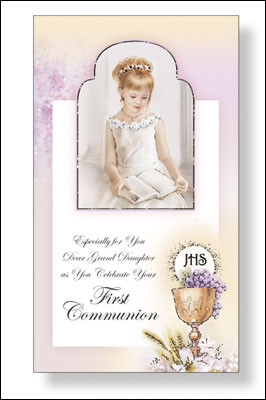 Communion Card for Granddaughter