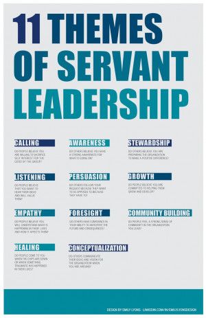 Servant Leadership - 11 Themes DESIGN BY EMILY LYONS: LINKEDIN.COM/IN ...