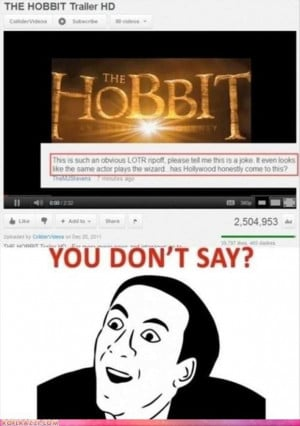 the hobbit, funny quotes