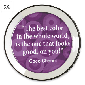 purple quotes to live by compact mirror by danielle sku d376p great ...