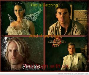 Catching Fire- Katniss Gale Haymitch Peeta