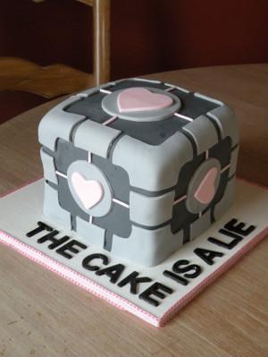companion cube cake: Cakes Ideas, Cakes Size, Portal Cakes, Videos ...