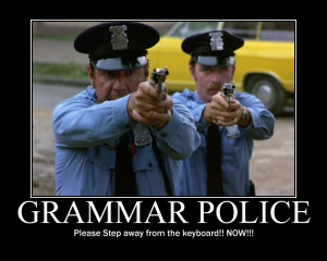 """... accidentally capitalized """"step"""" in a picture about good grammar"""