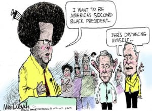 Jeb Bush Distancing Himself - Jeb Bush Cartoon