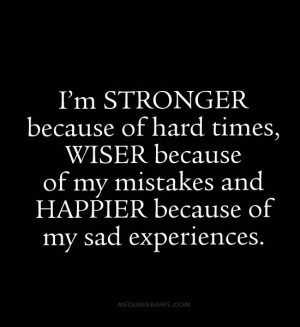 stronger because of hard times