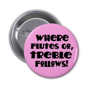 Pink Flute Treble Music Button
