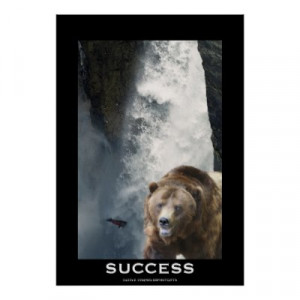 Motivational Posters on Grizzly Bear Salmon Success Motivational ...