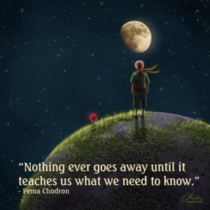 Life Lesson: Nothing Ever Goes Away Until…