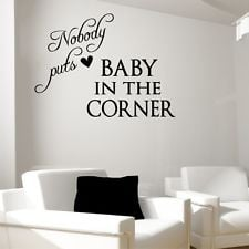 BABY IN CORNER Dirty Dancing movie wall quotes living room wall decal