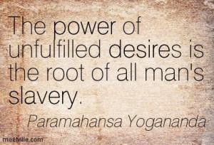 raiz da escravidão humana - Paramahansa Yogananda