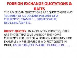 Currency Quotes Direct Indirect ~ Foreign exchange rates & quotes