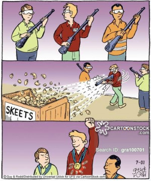 Trap Shooting Cartoons