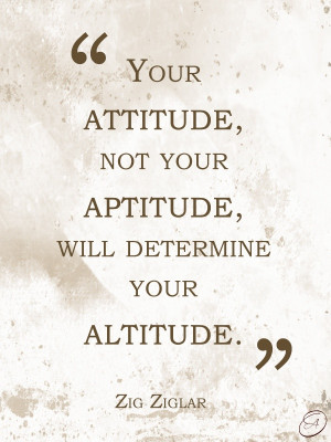 ... not your aptitude, will determine your altitude.