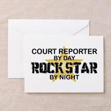 Court Reporter Rock Star by Night Greeting Cards ( for