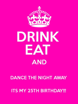 Keep Calm It 39 s My 25th Birthday