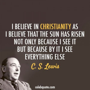 Lewis quote on Christianity