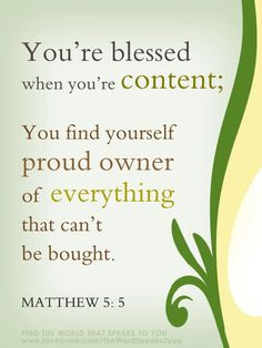 ... and contentment in Him.