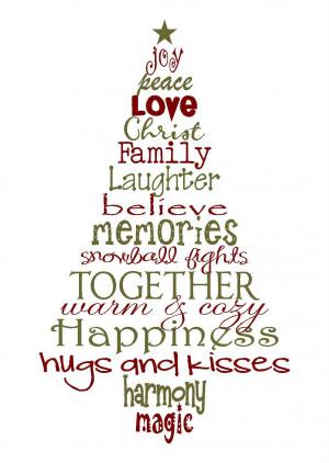 Christmas Sayings A christmas tree of memories