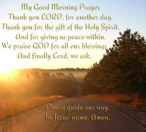 Good Morning Prayer...