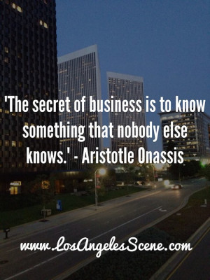 Inspirational Quote – Aristotle Onassis