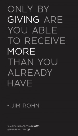 ... able to receive more than you already have.