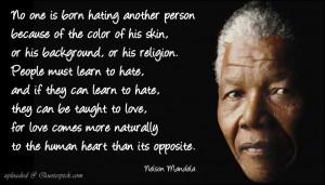 Nelson Mandela on Love