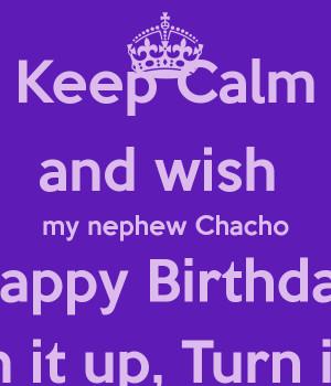 Happy Birthday Nephew Keep Calm