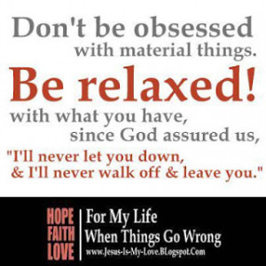 Bible Verses About Material Possessions. Obsessed with Material things ...