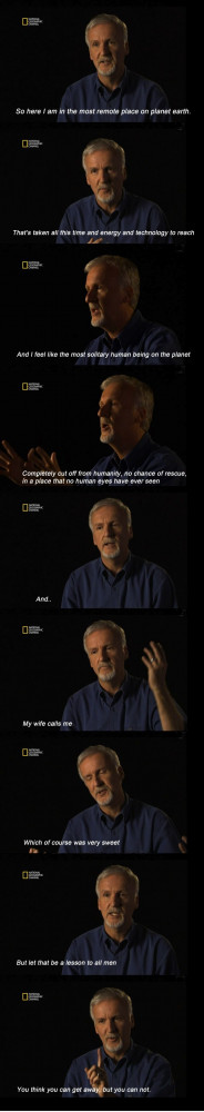 James Cameron on women.