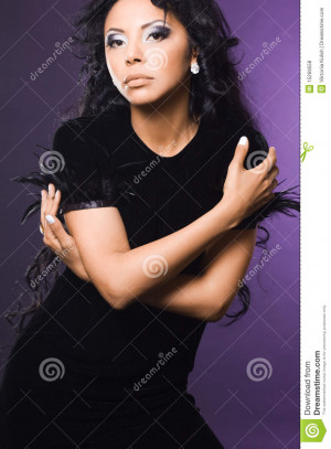 download this Fashionable Mulatto Woman Blue picture