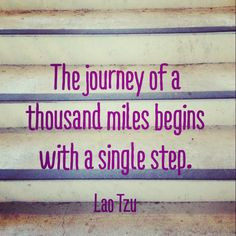 one. step. at. a. time. #quotes More