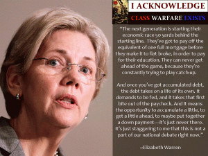 Elizabeth Warren speaks on student loan debt