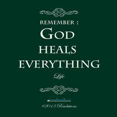 God heals everything. www.theinspired-l... More