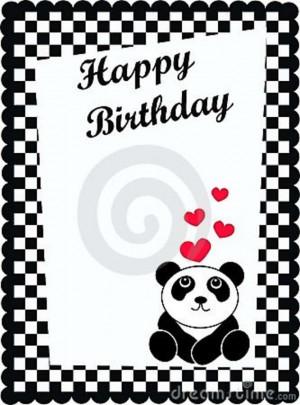 happy birthday black and white card