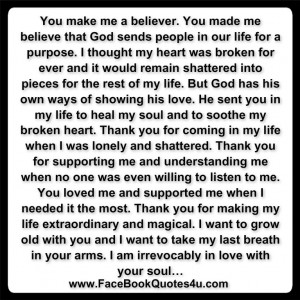 You Heal My Broken Heart Quotes ~ FaceBook Quotes: You Heal My Soul..