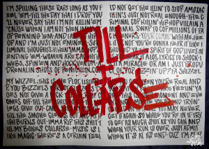 Eminem Quotes Till I Collapse Etsy shop and eminem piece