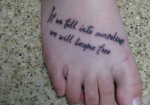 Quote Tattoo On Foot