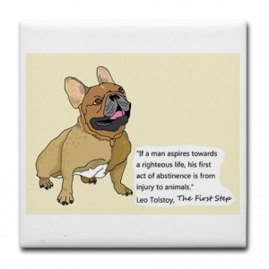 ... Gifts > Canine Kitchen & Entertaining > French Bulldog Quote Tile 2