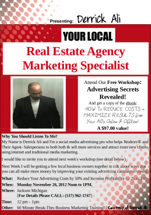 Real Estate Agents and Brokers Free Advertising Clinic