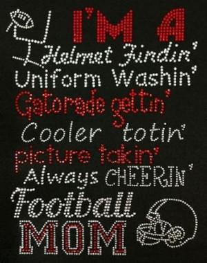 ... www.etsy.com/listing/168555342/rhinestone-football-mom-t-shirt-bling