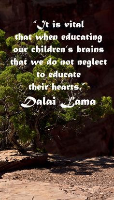 "educate their hearts."" Dalai Lama -- Build your child's naturalist ..."