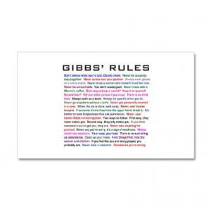 NCIS Gibbs' Rules