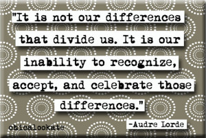 Audre Lorde Not Our Differences Quote Refrigerator Magnet or Pocket ...