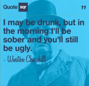 Winston Churchill Drinking Funny Quote Quotesqr Picture