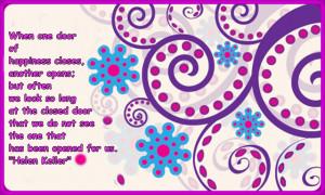 Pretty purple Wallpaper ( Motivational Quote)