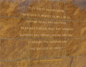 Description: Quotation on a wall at Soldier Field, Chicago, Illinois