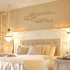 ... Wall Decal Quote Lettering Decor - Romantic Bedroom Wall Art 11H x 28W